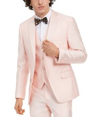 alfani men's slim-fit stretch pink solid tuxedo jacket, created for macy's