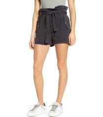 women's blanknyc paperbag waist patch pocket shorts