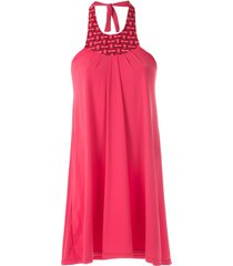 amir slama halter neck panel dress - red