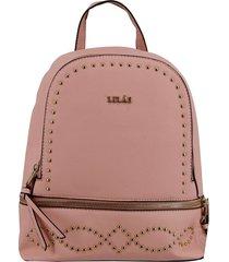mochila amanda rosa lilás carteras