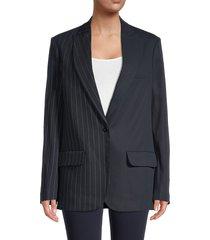 off-white women's tomboy pinstriped jacket - blue - size 40 (4)