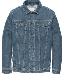 short jacket mid blue wash mid blue wash
