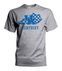 top of the world kentucky wildcats men's checkerboard state t-shirt