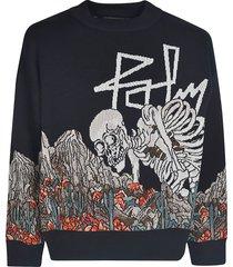 palm angels jq desert skull sweater
