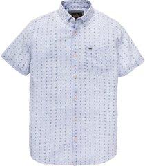 vanguard overhemd mini print met korte mouwen