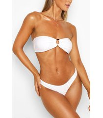 high leg bikini briefs, white