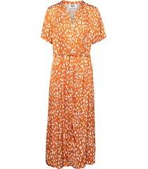 &co woman jurk brechje dot oranje