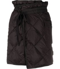 moncler quilted wrap skirt - black