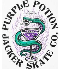 t-shirt korte mouw jacker purple potion