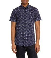 men's rodd & gunn govan regular fit floral short sleeve button-up shirt