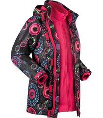 giacca tecnica outdoor 3 in 1 con cappuccio (nero) - bpc bonprix collection