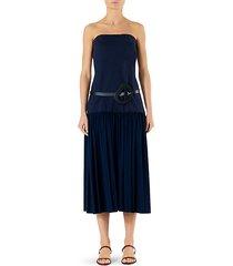 punto milano strapless drop waist dress