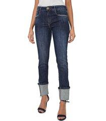 calça jeans my favorite thing(s) skinny zíperes azul