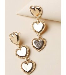 carved heart shape dangle earrings