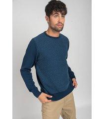 sweater azul oxford polo club sam