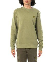 lyle and scott felpa uomo crew neck sweatshirt ml424vtr.w321