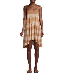 free people women's sleeveless printed high-low dress - wine combo - size s
