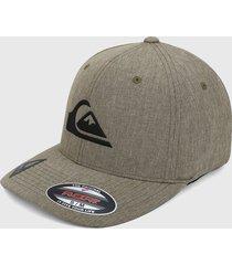 gorra beige-negro quiksilver mens amped up flexfit cap