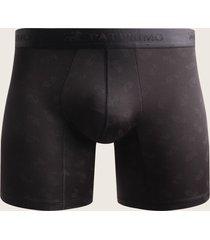 boxer medio para hombre en microfibra estampado negro s
