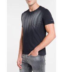 camiseta masculina dirty chumbo calvin klein jeans - pp