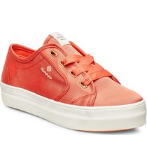 leisha low lace shoes låga sneakers orange gant