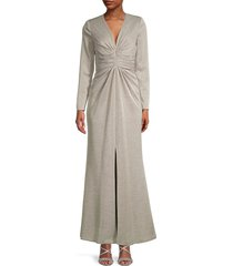 kay unger women's kayla gown - champagne - size 10