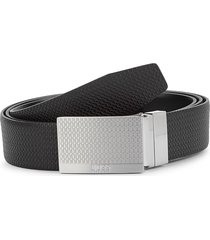 boss hugo boss men's giole leather belt - black