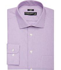 pronto uomo berry tonal stripe slim fit dress shirt