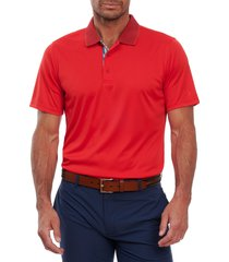 men's robert graham ace polo shirt, size xx-large - red