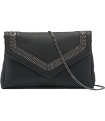 dkny ziggy leather clutch