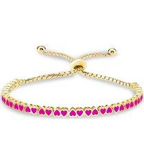 gabi rielle women's i heart you 14k gold vermeil sterling silver bolo bracelet