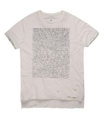 camisetas khelf camiseta masculina geométrica mullet off-white