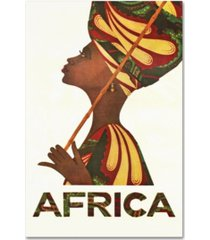 "vintage apple collection 'africa turban' canvas art - 12"" x 19"""