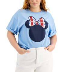 mighty fine trendy plus size minnie mouse-print t-shirt