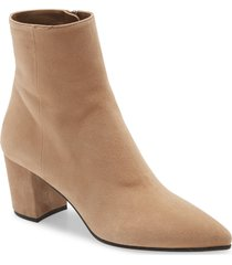 women's prada pointed toe bootie, size 5.5us - brown