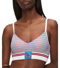 calvin klein women's ck one sock band wirefree bralette qf5916