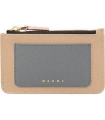 marni saffiano leather card-holder