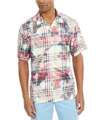tommy bahama men's huladays plaid camp shirt