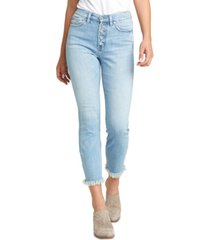 silver jeans co. calley button-fly skinny ankle jeans