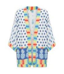 kimono abacaxizinhos - off white
