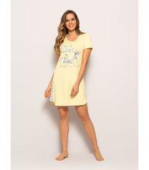 camisola any any viscose amarelo - amarelo - feminino - dafiti