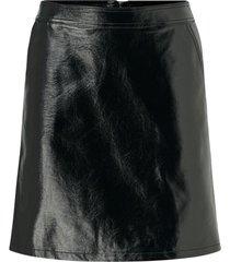 kjol onlbella glazed faux leaher skirt