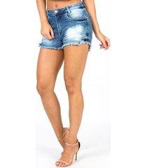 shorts jeans hot pants star luck feminino