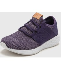 zapatilla violeta new balance fresh foam cruz