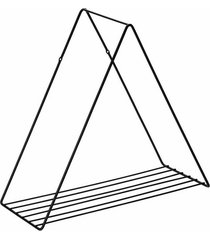 prateleira aramada arthi decora 38x40x17cm triangular metal black