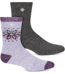columbia women's 2-pk. winter blast crew socks