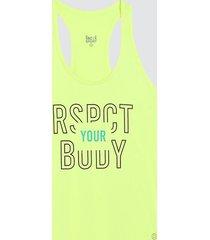 camiseta mujer sport body color amarillo, talla l