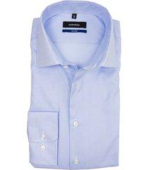 overhemd seidensticker lichtblauw ruit tailored