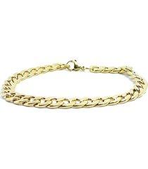 pulseira kodo acessórios aço dourada