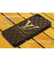 brown pattern lv style cover for iphone 7 7+ 6 6s 6+ 6s+ 5 5s 5c 4 4s case